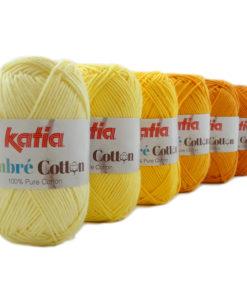 lana-filato-ombrecotton-knit-cotone-giallo-chiaro-giallo-limone-giallo-arancio-giallastro-giallo-zafferano-giallo-polenta-primavera-estate-katia-3-g